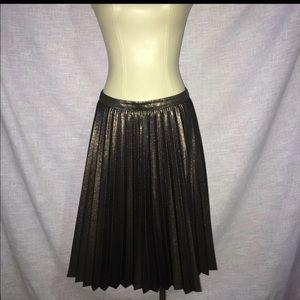 trina turk Sz 4 S Small Skirt Pleated NEw NWT gold